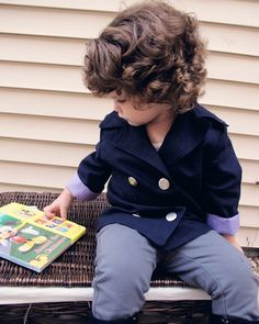 The Fabric Fairy Olivia and Oliver Pea Coat Downloadable Sewing Pattern by Peek A Boo Pattern Shop