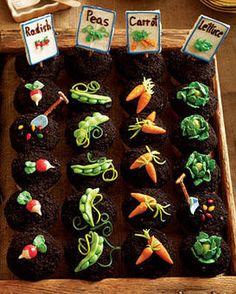 Garden party cupcakes.
