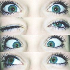 I wish that I could do cute eye pics, like this, but I can't, because I have ugly eyes.