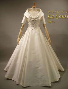 Couture yoshie dress シルクのウエディングドレス・レンタル