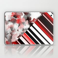 black and white meets red Version 7 Laptop & iPad Skin