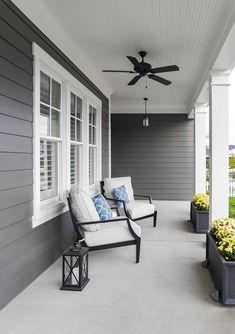 Add Character to Your Home with James Hardie Siding - 730 Sage Street Exterior Paint Colors For House, Exterior Colors, Exterior Home Painting, Exterior Design Of House, Grey House Exteriors, Siding Colors For Houses, House With Porch, House Front, Exterior Siding