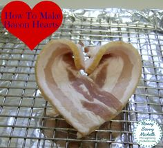 How to Make Bacon Hearts http://moneysavvymichelle.com/how-to-make-bacon-hearts/ #ValentinesDay