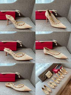 Valentino woman mesh style rockstuds high heels flats sandals Valentino Women, Valentino Shoes, Flat Sandals, Flats, Girl Fashion, Espadrilles, High Heels, Mesh, Woman