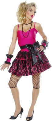 Discover an incredible selection of costumes for women at Party City. Get the latest female costume looks from TV and film, Halloween classics, DIY kits and more. 80s Girl Costume, Eighties Costume, 80s Party Costumes, Dress Up Costumes, Girl Costumes, Costumes For Women, Madonna Costume, Madonna 80s, Eighties Hair