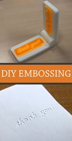 How to make an embossing tool.