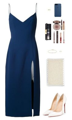 Sin título #4354 by mdmsb on Polyvore featuring moda, Christopher Esber, Christian Louboutin, Tate, Yves Saint Laurent y Charlotte Tilbur #christianlouboutinoutfits