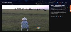 Watch this Farmer make  artwork with his cows!