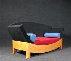 Hans Hollein, Mitzi sofa for - DE, Düsseldorf, Kappeler Straße Vintage Furniture Design, Unique Furniture, Pop Art, Memphis Furniture, Wall Decor Design, Sofa Colors, Memphis Design, Luxury Sofa, Modern Sofa