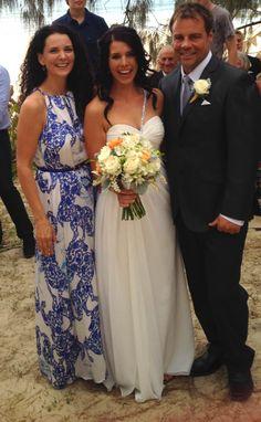 Gorgeous bride and groom, Noosa main Beach  x  Suzanne Riley Marriage Celebrant www.suzanneriley.com.au