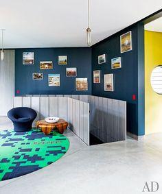 A sitting area in Muriel Brandolini's family retreat in the Hamptons