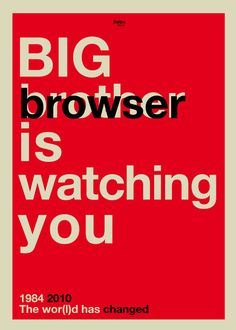 Big browser is watching you by Rétrofuturs (Hulk4598) / Stéphane Massa-Bidal, via Flickr