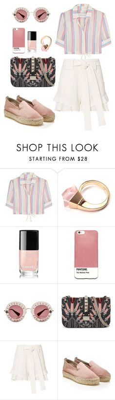 """""""Untitled #588"""" by coockie-and-black-forest-gateaus ❤ liked on Polyvore featuring Solid & Striped, Gucci, Chanel, Case Scenario, Valentino, 10 Crosby Derek Lam and espadrilles"""