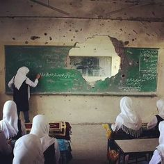 """There are people out there who tell you you can't. What you've gotta do is turn around and say ""WATCH ME!!"" ★ ( First day at school, Gaza, Palestine. Source: hadeiadel )"