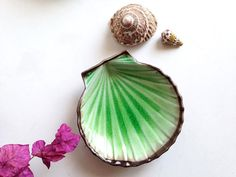 shell plate / midcentury home / scallop shell tray by MILKTEETHS, $28.00 #shell #midcentury #home