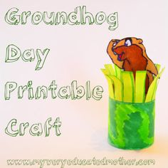 Groundhog Day Craft {Free Printable} · Lesson Plans | CraftGossip.com