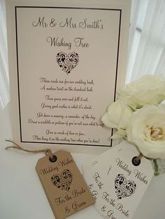 16 Shabby Chic style/ Vintage wish tree tags - 2 styles available | eBay