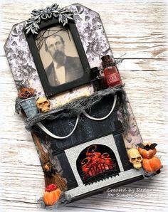 Redanne: Designer Spotlight - Simon Says Stamp Halloween Tags, Halloween Prints, Halloween Projects, Halloween Decorations, Halloween 2020, Halloween Fireplace, Fall Paper Crafts, Kids Doll House, Tim Holtz Dies