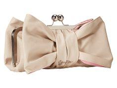 Jessica Simpson Jenny Bow Clutch Cream/Hot Pink 1 - 6pm.com