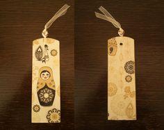 Items similar to Matryoshka Decoupage Bookmark on Etsy