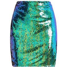 Dawna Green Side Split Sequin Mini Skirt ❤ liked on Polyvore featuring skirts, mini skirts, bottoms, sequined skirt, short sequin skirt, green sequin skirt, sequin mini skirt and short skirt