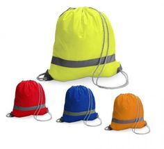 High-Vis Drawstring Backpack  Size : 36cm (W) x 41cm (H) Material : Polyester Two Cord Handles With Reflective Strip Minimum Quantity From Stock 250
