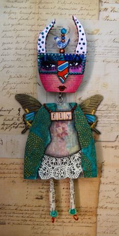 Altered Expression Art Doll  Metamorphosis by desertdreamstudios, $83.00