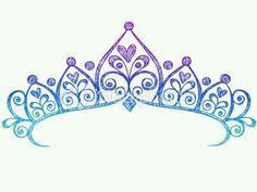 Princess crown. Colours: purple, dark and light blue
