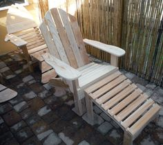 Classic Adirondack with Ottoman.Made from Florida Cypress Nautical Furniture, Beach House Furniture, Wood Patio Furniture, Barrel Furniture, Coastal Furniture, Wood Adirondack Chairs, Outdoor Chairs, Outdoor Decor, Lifeguard Chair
