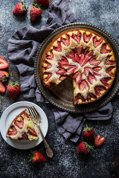 Roasted Strawberry Ricotta Cake is a delightful and delicious cake perfect for breakfast or as dessert!