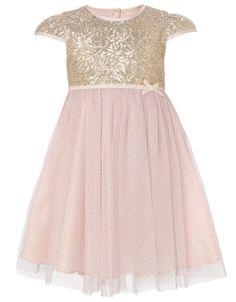Baby Marianna Sparkle Sequin Dress | Gold | Monsoon