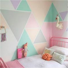 Girls bedroom wall paint ideas girl room colors ideas gallery of girls room paint ideas teenage Kids Bedroom Paint, Girls Room Paint, Bedroom Paint Colors, Bedroom Decor, Boys Room Paint Ideas, Wall Decor, Bedroom For Kids, Playroom Paint Colors, Summer Bedroom