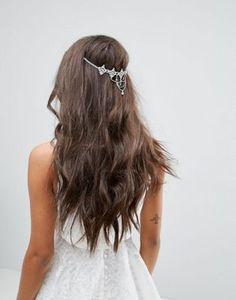 ASOS BRIDAL – Filigrane Haarkette mit Glasdetail