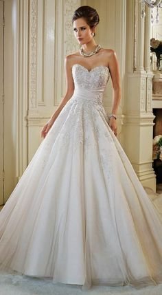 Modern Cinderella ~ Sophia Tolli Fall 2014 Bridal Collection | bellethemagazine.com