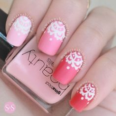 Pink and Red lace design!