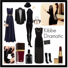 Kibbe Dramatic by papillonnoir1 on Polyvore