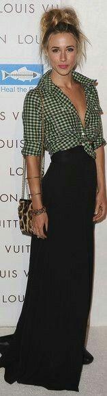 Button down shirt with Maxi skirt