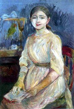 Retrato de Julie Manet, 1890 Berthe Morisot (França, 1841-1895) óleo sobre tela, 55 x 84 cm Coleção Particular  -- Julie Manet é a filha única da pintora Berthe Morisot e Eugène Manet,...