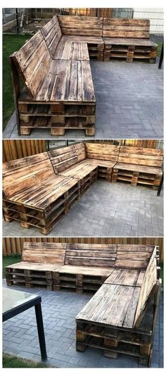 Pallet Garden Furniture, Furniture Projects, Modern Furniture, Garden Pallet, Rustic Furniture, Diy Furniture, Outdoor Furniture, Garden Ideas With Pallets, Diy With Pallets
