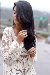 White Lace loose long sleeve