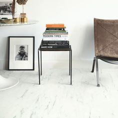 White Ambient Click Vinyl Marble Carrara White AMCL40136