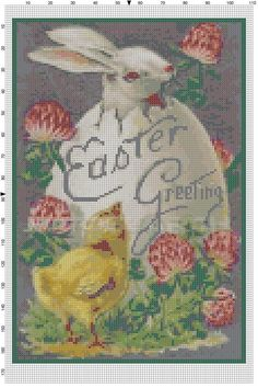 Hey, I found this really awesome Etsy listing at https://www.etsy.com/listing/183148699/cross-stitch-pattern-vintage-easter