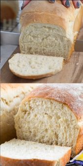 This EASY White Bread is made from scratch. It makes two loaves and is the perfe… This EASY White Bread is made from scratch. It makes two loaves and is the perfect sandwich bread! Making homemade bread is easier than you think. Best Sandwich Recipes, Best Bread Recipe, Easy Bread Recipes, Simple Bread Recipe, Bread Maker Recipes, Light Airy Bread Recipe, Pioneer Bread Recipe, White Bread Recipes, Fluffy White Bread Recipe
