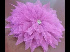 How to make beautiful tulle flower  - YouTube
