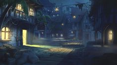PiratesTownStreet_Night  /* Hi Friends, want to see more pins like this? Make sure to follow our board @moirestudiosjkt #illustration */