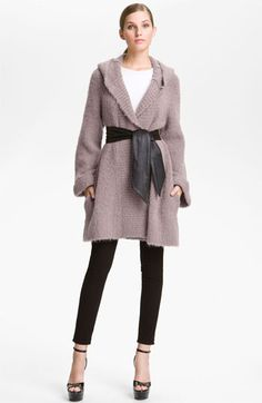 Elizabeth and James Wrap Front Hooded Sweater | Nordstrom