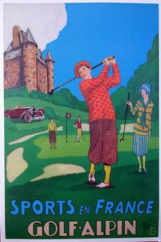 Sports en France. Golf-Alpin