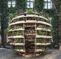 Growroom is a prototype for foodproducing architecture in our cities is part of Sustainable garden - Part garden, part urban furniture and public space, this structure hopes to help people grow their own food and green our cities