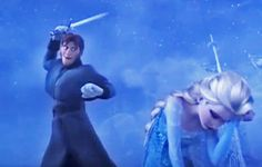 """""""Can we talk about this. Elsa could be well aware that Hans is about to kill her. I mean she could have heard him unsheathe his sword. But she obviously doesn't care if she dies. She's been told that Anna was dead and it was all her fault. She has nothing else to live for. She's so devastated that she won't defend herself and that is what gets me about this scene right here. She feels like she deserves it."""""""