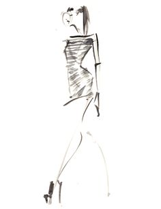 modern fashion sketches | final fashion » live runway sketching – London Fashion Week 18-09 ...